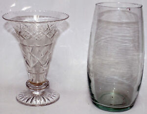 2-Vintage-Vases-Possibly-Crystal-Retro