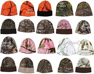 "12/"" Camouflage Hat Realtree Camo Stocking Cap Beanie"