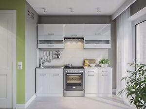 eldorado k che alina 220 cm wei lackiert k chenzeile k chenblock einbauk che ebay. Black Bedroom Furniture Sets. Home Design Ideas