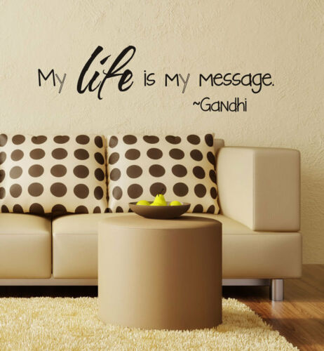 My Life Is My Message Wall Sticker Home Quotes Inspirational Love MS013VC