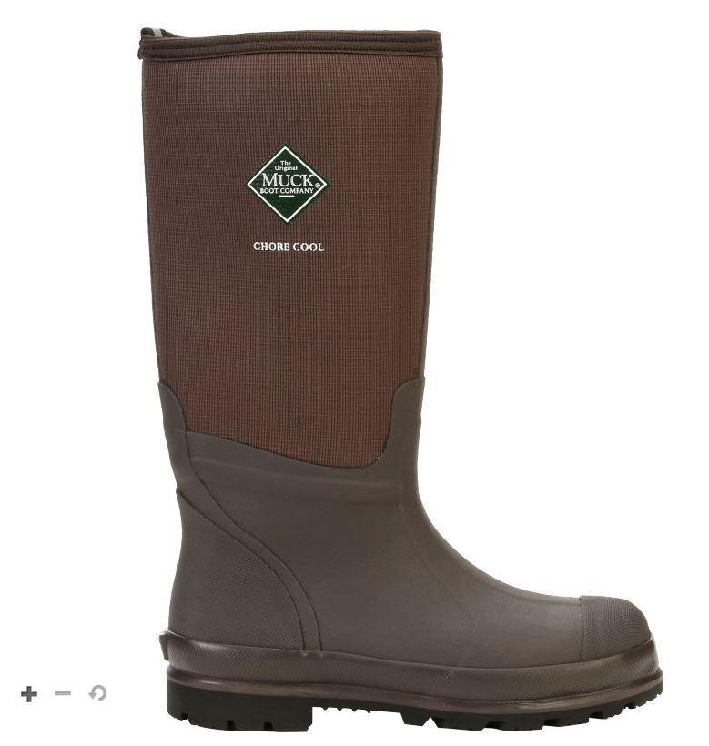 Muck Boots Chore Cool High Work Boots Brown Unisex Mens 6 Womens 7 New