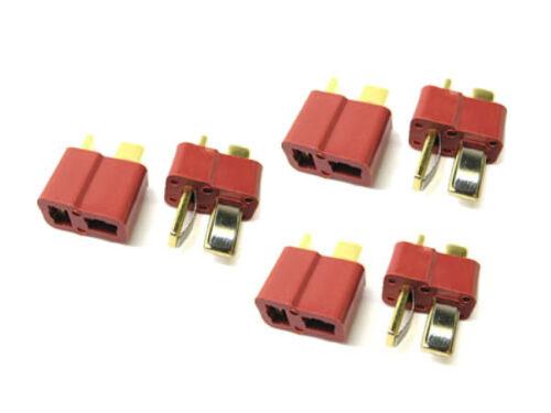 Etronix Deans Plug Gold Plated Connectors 3 Male /& 3 Female ET0791