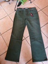 MILLION X Stretch Jeans Hose Linda 36 L32 NEU! dark green Used Look