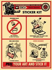 Shepard Fairey Obey Giant Sticker Kit Signed Numbered Screen Print Banksy Kaws