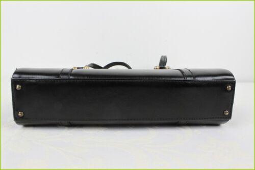 portadocumenti nera Scatola pelle mano in in Tee tenuto qFddzw