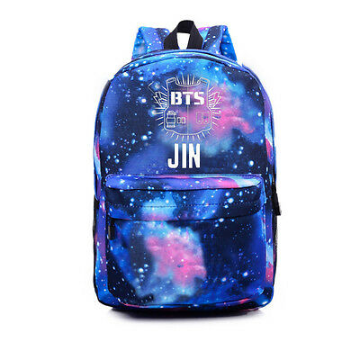 KPOP Bangtan Boys Schoolbag Backpack Student Book bag Starry Sky Satchel BTS