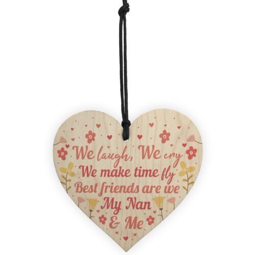 Cute Nan Gift Wood Heart Mothers Day Gift For Nan Birthday Gift Grandparent Sign