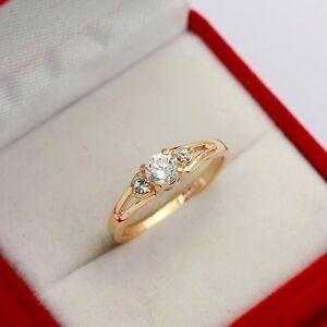damen ring rose gold 18k pl kristall verlobungsring. Black Bedroom Furniture Sets. Home Design Ideas