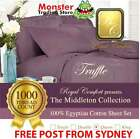 ROYAL COMFORT MIDDLETON SHEETS 1000-THREAD COUNT 100% EGYPTIAN COTTON QUEEN