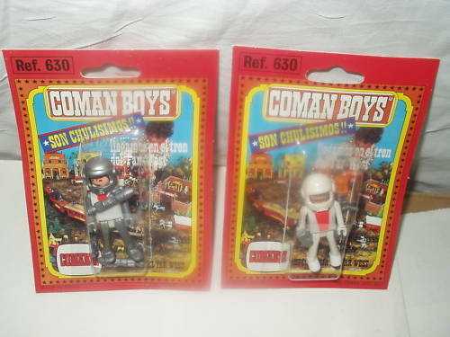 2 COMAN SPACE WESTERN BOYS PLAYMOBIL COMANSI SPAIN MOC