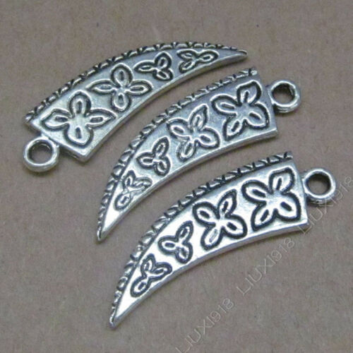 10pc Tibetan Silver Charms Ox horn shape Pendant Beads Jewellery Making B588Y