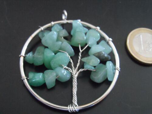 Arbol de la vida piedra natural AVENTURINA árbol vida metal semipreciosa