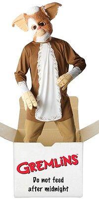 Gremlin Gizmo Mens Fancy Dress 80s Halloween Movie 1980s Adult Costume + Mask