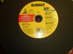 "(4) DeWalt DW8057 TA24T XP Metal Stud Cutting Wheel 12"" x 7/64"" x 1"" NEW"