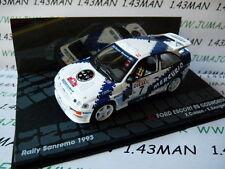 voiture 1/43 IXO  Rallye ITALIE FORD ESCORT RS cosworth 1993 San Rémo Cunico