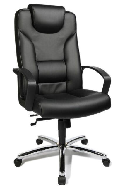 Chefsessel Topstar Comfort Point 50 mit Armlehnen Schwarz Bürostuhl Drehstuhl