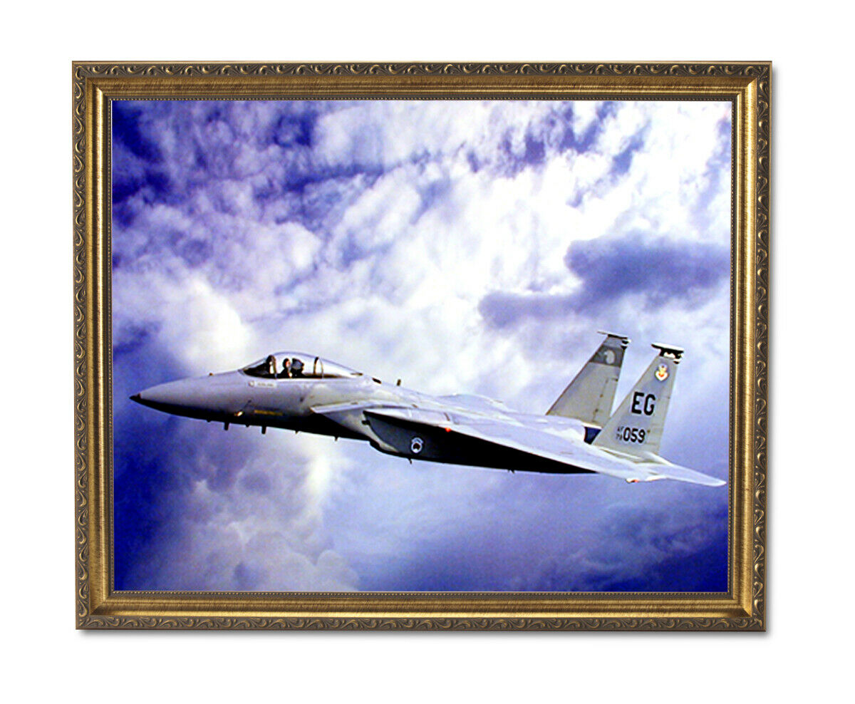 F15 Eagle Jet Fighter Airplane Wall Picture oro Framed Art Print