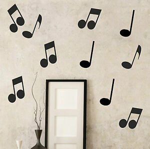 image is loading 20 x musical notes wall sticker decal kids