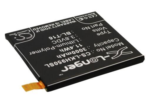 UK Batteria per LG G Flex 2 H950 BL-T16 EAC62718201 3,8 V ROHS