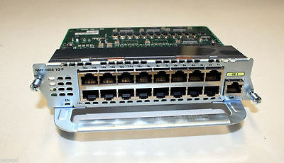 Cisco NME-16ES-1G-P EtherSwitch Service Module 1YearWarranty 2811 2821 2851 3825