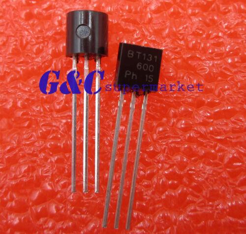 100PCS BT131-600 NXP TRIAC SENS GATE 600V 1A TO92-3 NEW