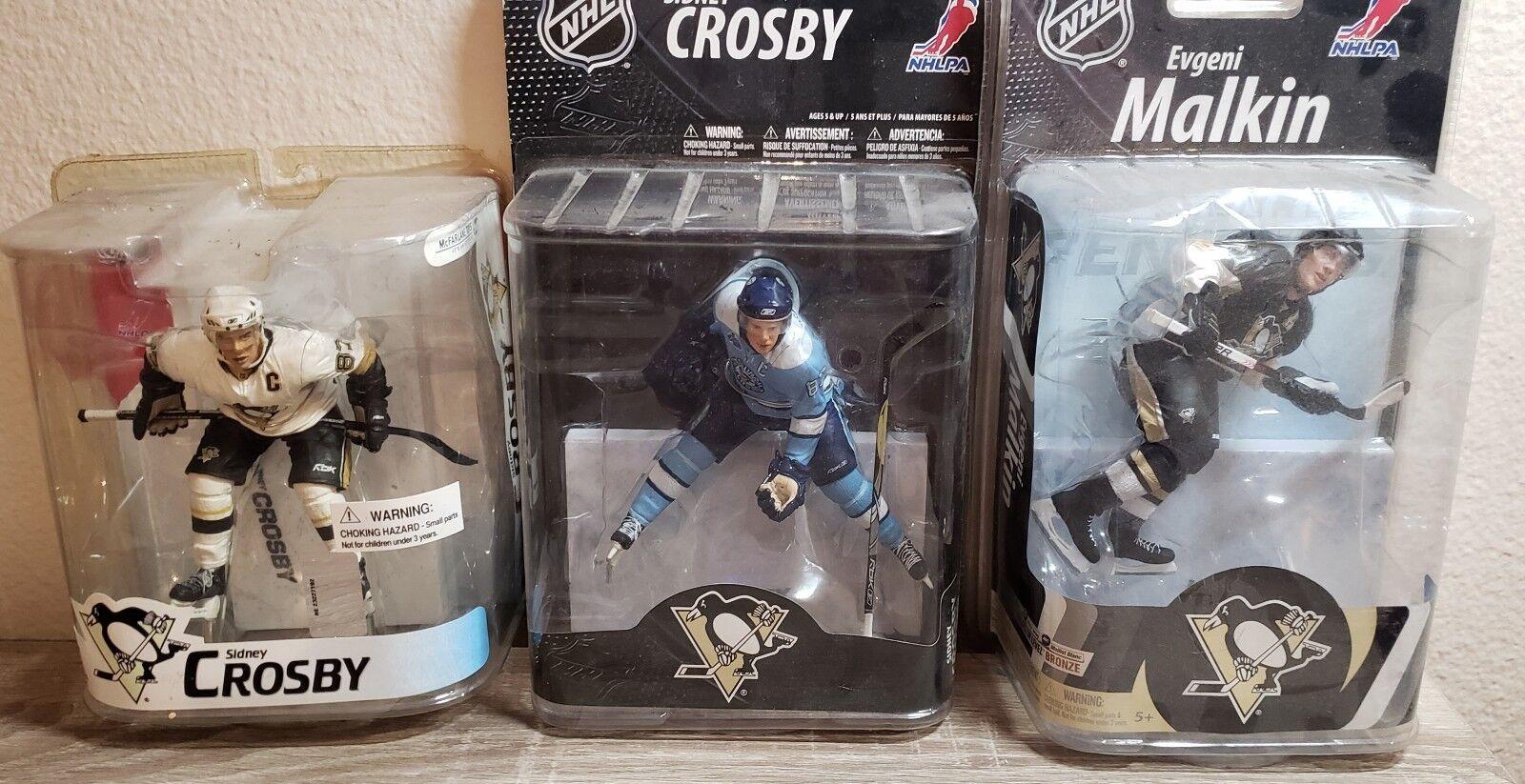 Lot Of 3 Mcfarlane Pittsburgh Penguins Crosby's And Malkin NIB