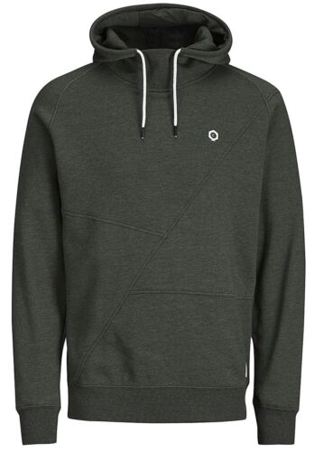 JACK /& JONES Core Pinn Mens Overhead Hoodie Plain Hooded Cotton Sweatshirt Top