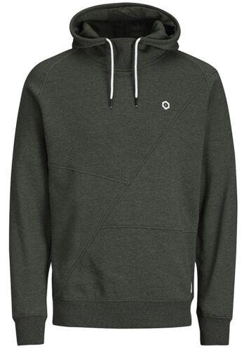 JACK /& JONES Core Pinn Mens Overhead Hoodie Plain Hooded Cotton Sweatshirt Top