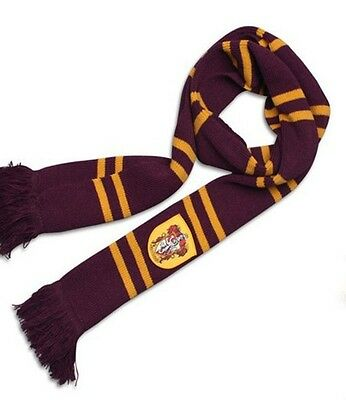 Fashion Harry Potter Gryffindor Thicken Wool Knit Scarf Wrap Soft Warm Costume