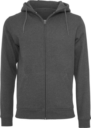 Kangaroo Pocket Zipped Cotton Sweatshirt Build Your Brand Heavy Zip Hoody BY012
