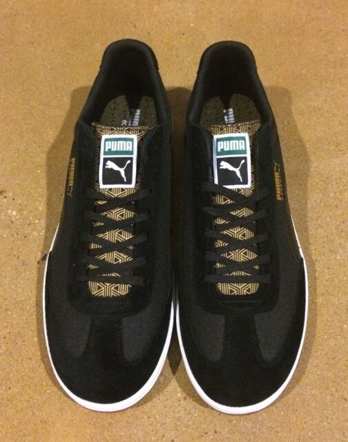 Puma Argentina Fil Size13 Black White Gold Shoes Sneakers
