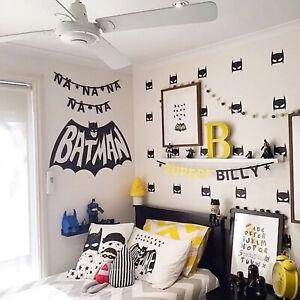 Details Sur 16 Grands Super Heros Batman Mur Vinyl Autocollant Enfants Chambre Bebe Garcon Chambre Wall Art Afficher Le Titre D Origine