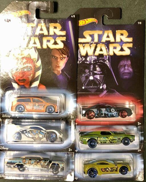 New STAR WARS 2017 MASTER /& APPRENTICE Hot Wheels Walmart Exclusive Set of 8