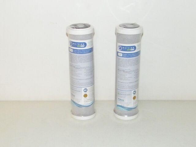 2 Pre Y Post RO Carbono Cartuchos De Filtro 5 Micras 6.3cm x 25.4cm Matrikx