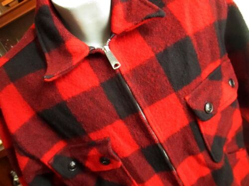LARGE True Vtg 60s PENNEYS FOREMOST BUFFALO PLAID