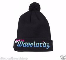 Pink Dolphin WAVE LORDZ Black Multi Pom Pom Knit Cap Hat Beanie