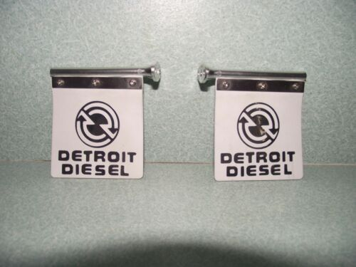 TAMIYA 114 SCALE DETROIT DIESEL CHROME MUD FLAPS VINYL DIE CUT DECALS