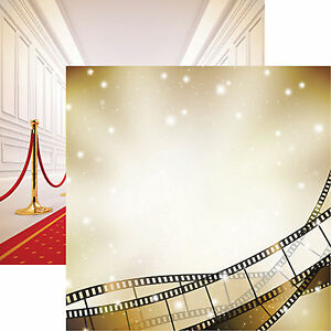 Reminisce IN THE MOVIES 12x12 Dbl-Sided (2pc) Scrapbooking Paper