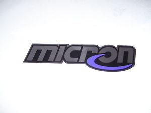 Micron exhaust decal exhaust sticker badge heat resistant
