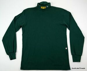 VTG-Mens-NFL-Green-Bay-Packers-Turtleneck-Shirt-Sz-XL-Green-Embroidered-USA