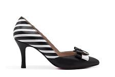 Zapato de salón a rayas blanco y negro - Angari