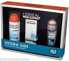 LOreal Men Expert 3PC Gift Set - Hydra 24 (Moisturiser, Shaving Gel, Roll On)