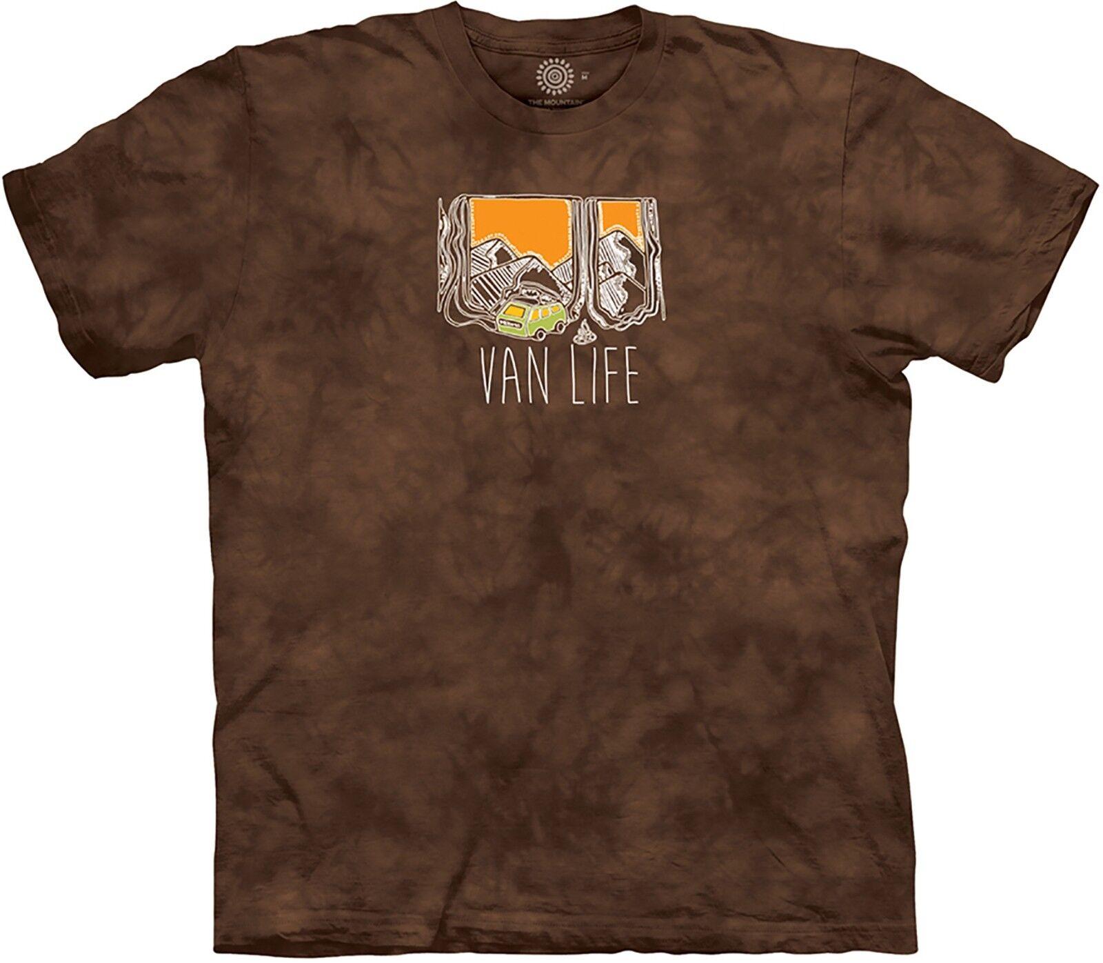 The Mountain Unisex Adult Van Life MT Life Outdoor T Shirt