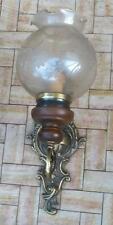 antica applique legno bronzo dorato e cristallo molato opacizzato disponibili 3