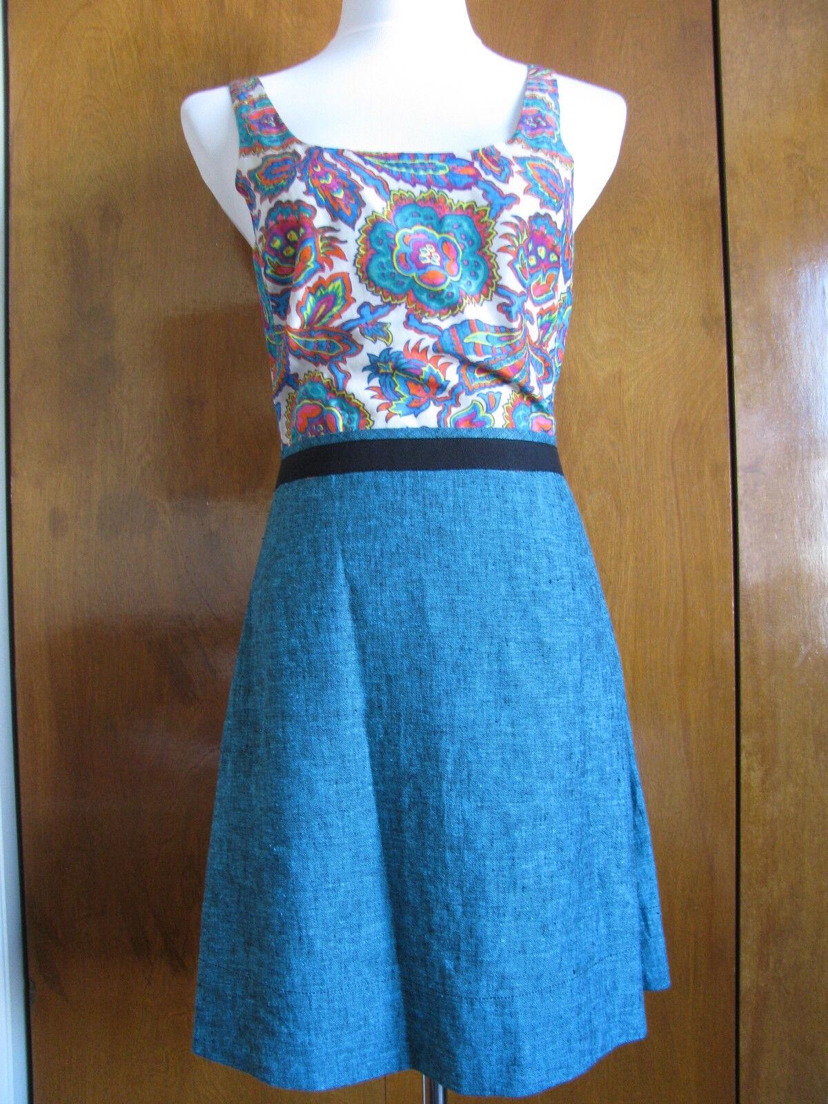 Rachel Roy women's floral A-Line mini dress size 6 New