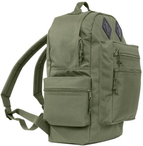 GREEN Deluxe Water Resistant Nylon Book Bag Travel Bag Daypack Backpack 2232 #2