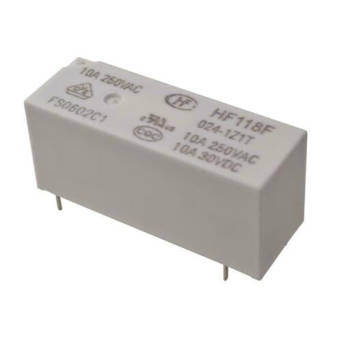 HONGFA HF118F//024-1Z1T Relais 1x Wechsler 10A 24V High Power Relay 860571