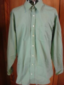 Mens-15-15-1-2-34-35-Stafford-Green-LS-Dress-Shirt