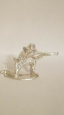 Gunslinger cowboy hand cast Bullion .999 fine silver 1776 Mint