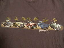 Newport Blue American Bad Boys Made In Detroit Graphic 100% Cotton T Shirt Large
